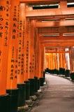 Ideia das portas vermelhas famosas do torii fotos de stock royalty free