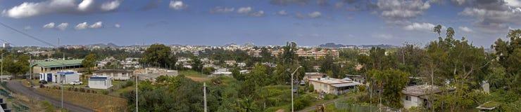 Ideia de ângulo larga da comunidade de Cerro Gordo em Bayamon Porto Rico foto de stock royalty free