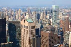 Ideia de Arial da skyline de Manhattan imagens de stock