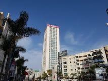 Ideia de baixo ângulo do centro do gêmeo de Casablanca, Marrocos Fotos de Stock
