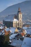 Ideia de Brasov de partes superiores do telhado da torre Fotografia de Stock