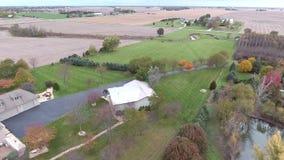 Ideia de campos da colheita da terra no Estados Unidos de Midwest, Illinois filme