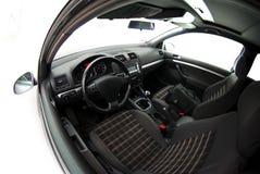 Ideia de Fisheye do interior do carro Imagem de Stock