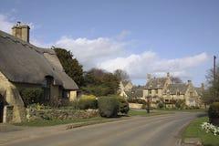 Ideia de lascar casas de campo de Campden na mola Imagens de Stock Royalty Free
