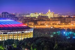 Ideia de Luzhniki e de arranha-céus Imagem de Stock