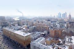 Ideia de Moscovo - anel de Sadovoye, estação de comboio de Kievsky imagem de stock