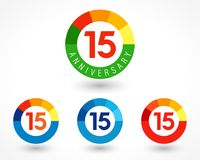 ideia de 15 números ilustração stock