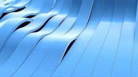 Ideia de perspectiva do fim acima das listras na moda azuis, ilustração 3d Imagem de Stock