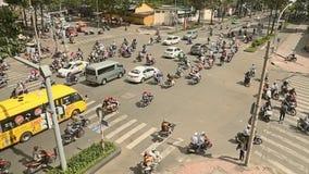 Ideia de Timelapse do tráfego louco em Saigon 1 vídeos de arquivo