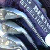 Ideia de um grupo do golfe imagens de stock