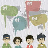 A ideia de uma comunicação social da rede Imagem de Stock Royalty Free