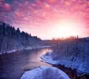 Ideia de uma paisagem bonita do inverno foto de stock royalty free