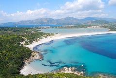 Ideia de uma parte de natureza colorida na sagacidade de Villasimius (Sardinia) Fotos de Stock Royalty Free
