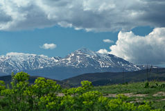 Ideia de uma parte superior Ljuboten da montanha em Macedónia Fotos de Stock Royalty Free