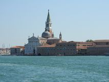Ideia de Veneza, de It?lia e de sua outra arquitetura do canal grande, dia claro fotos de stock