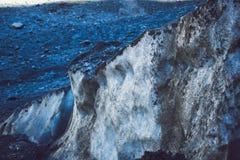 Ideia detalhada da estrutura da geleira Fotos de Stock Royalty Free