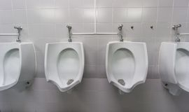 Ideia dianteira do toalete público Imagem de Stock