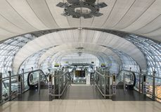 Ideia do ajuntamento da partida no aeroporto de Banguecoque Imagens de Stock Royalty Free