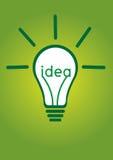 Ideia do bulbo de Ight na ilustração Fotos de Stock Royalty Free