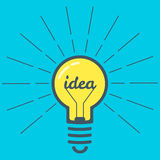 Ideia do bulbo de lâmpada da cor Foto de Stock