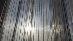 Ideia do céu e da luz solar através da cortina transparente Imagem de Stock Royalty Free