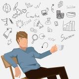 Ideia do café de Creativeman Ilustração Royalty Free