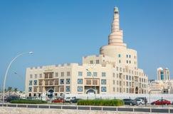 Ideia do centro cultural Fanar de Abdulla Bin Zaid Al Mahmoud Islamic em Doha, Catar fotografia de stock royalty free