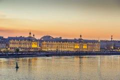 Ideia do centro da cidade do Bordéus, França fotografia de stock royalty free