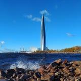 A ideia do centro de Lakhta fotografia de stock