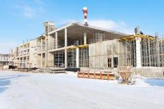 Ideia do centro de negócios que está sendo construído Fotografia de Stock