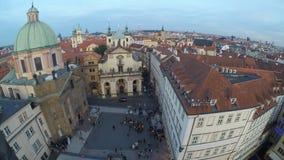 Ideia do centro de Praga vídeos de arquivo