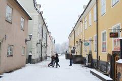 Ideia do centro de Riga no inverno Imagem de Stock Royalty Free