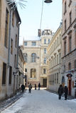 Ideia do centro de Riga no inverno Imagens de Stock Royalty Free