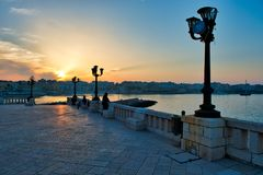 Ideia do centro histórico de Otranto no por do sol Salento, Apulia Itália Foto de Stock