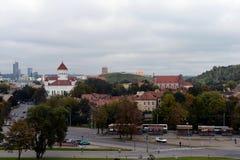 Ideia do centro histórico de Vilnius Imagens de Stock Royalty Free