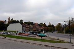 Ideia do centro histórico de Vilnius Fotos de Stock