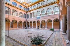 Ideia do claustro da academia espanhola em Roma fotografia de stock royalty free