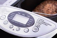 Ideia do close-up da indicação digital elétrica de fabricante de pão Fotografia de Stock Royalty Free