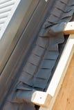 Ideia do close up de partes laterais com selos da isolação e da esponja da claraboia ou do trapeira da janela do telhado Fotografia de Stock
