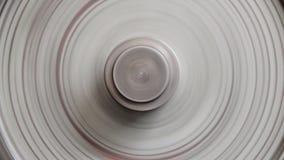 Ideia do close-up do gerencio contínuo da roda do metal video estoque
