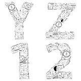 Ideia do conceito do plano da estratégia empresarial do desenho de letras do alfabeto Foto de Stock Royalty Free
