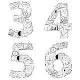 Ideia do conceito do plano da estratégia empresarial do desenho de letras do alfabeto Foto de Stock