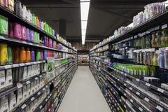Ideia do corredor do mercado da casa de campo Foto de Stock