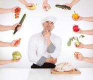 Ideia do cozinheiro chefe Foto de Stock Royalty Free