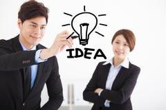 Ideia do desenho do homem de negócios para o conceito do negócio imagens de stock