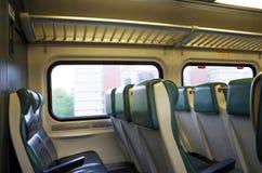Ideia do detalhe de assentos do trem da periferia Fotografia de Stock Royalty Free