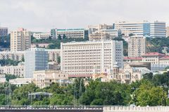 A ideia do dia da arquitetura de baku azerbaijan Fotografia de Stock Royalty Free