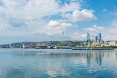 A ideia do dia da arquitetura de baku azerbaijan Fotos de Stock Royalty Free