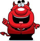 Ideia do diabo dos desenhos animados Fotografia de Stock Royalty Free