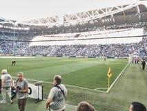 Ideia do estádio de Allianz, o campo da casa de Juventus imagem de stock royalty free